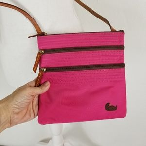Dooney & Bourke pink nylon crossbody small bag